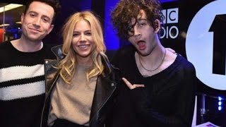 Matty Healy from The 1975 with Sienna Miller // BBCR1