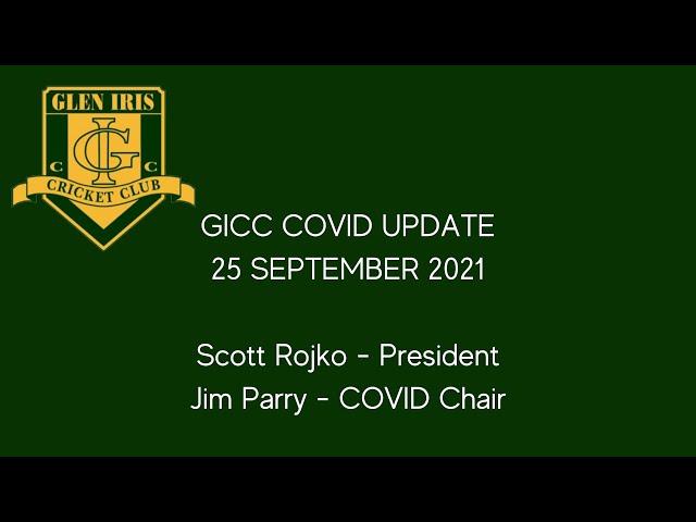 Glen Iris CC COVID Update