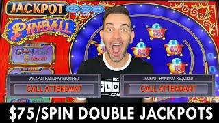DOUBLE JACKPOT on $75/Spin Pinball 🔵 High Limit Slots at San Manuel