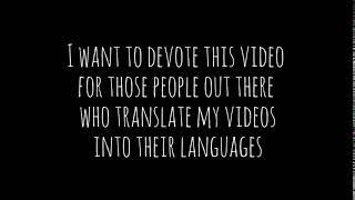 Thank you, my translators