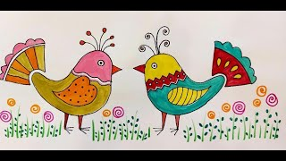 Mexican Folk Art Birds , Colourful , Various Designs And Patterns , Easy To Make