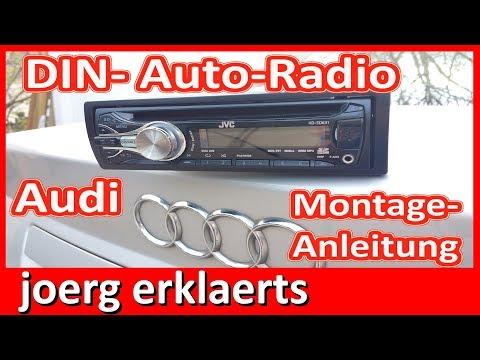 Autoradio einbauen Audi A4 mit Aktivsystem Bose ISO Norm Android JVC Tutorial Nr. 243