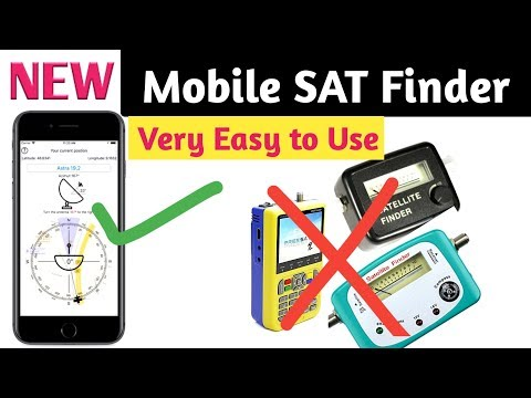 Dish antenna setting with Mobile App@Mobile Sat finder#satfinder