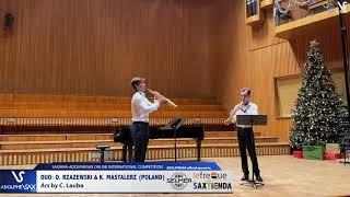 DUO O. RZAZEWSKI & K. MASTALERZ play Ars by C. Lauba #adolphesax
