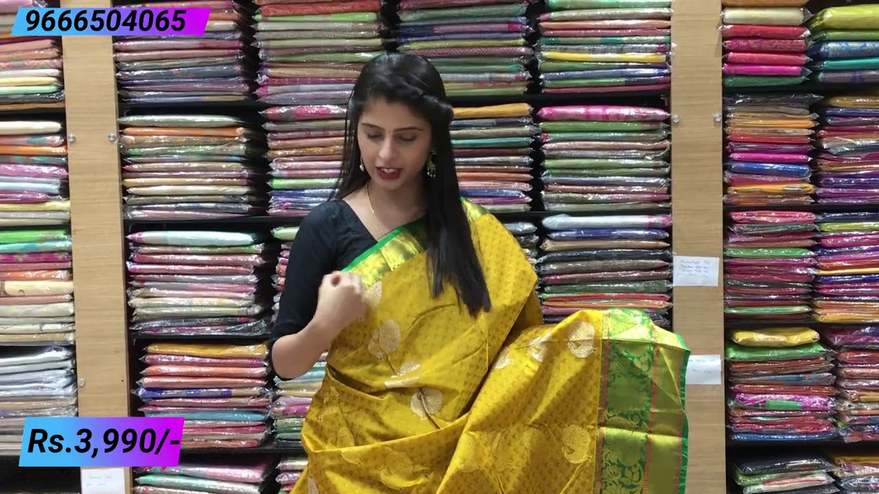 "<p style=""color: red"">Video : </p>Dharmavaram Pattu Sarees Collections | Vijay Brothers Sarees Showroom 2020-12-02"