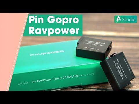 Pin dự phòng tốt nhất cho Gopro Hero 5, 6, 7 - Ravpower RP-PB074