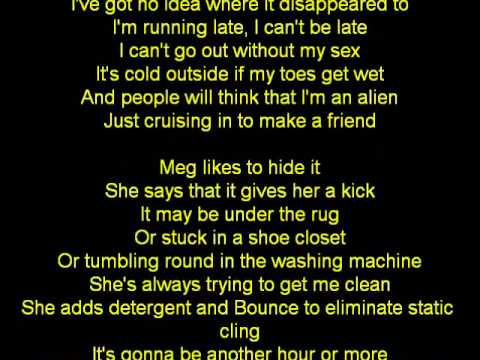weezer-WHERES MY SEX (LYRICS)