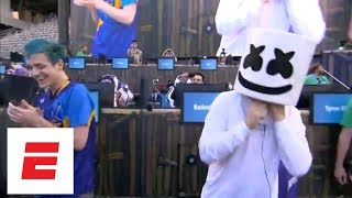 Best of the Fortnite Celebrity Pro-Am Competition including Ninja, Marshmello and more | ESPN - dooclip.me