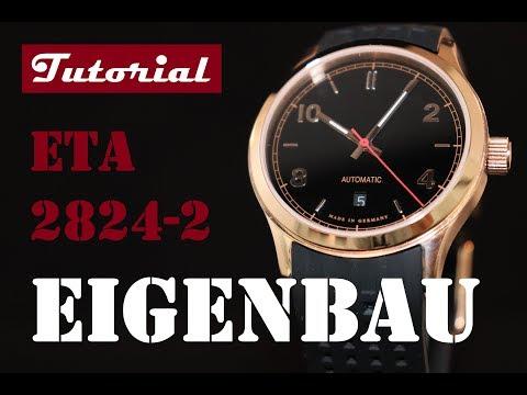 Uhr selbst bauen | Schritt für Schritt | Rosegold | 42 mm | Schwarz | ETA 2824-2 | Tutorial