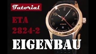 Uhr selbst bauen   Schritt für Schritt   Rosegold   42 mm   Schwarz   ETA 2824-2   Tutorial