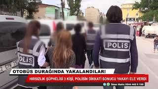 Konya'da hırsızlık şüphelileri otobüsle kaçmaya çalışırken yakalandı