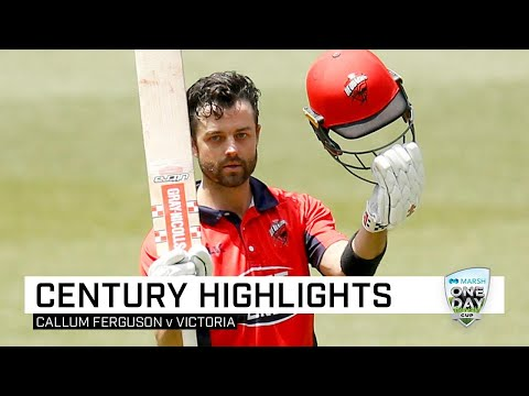 Ferguson eclipses Lehmann, hits second ton in three days | Marsh One-Day Cup 2019