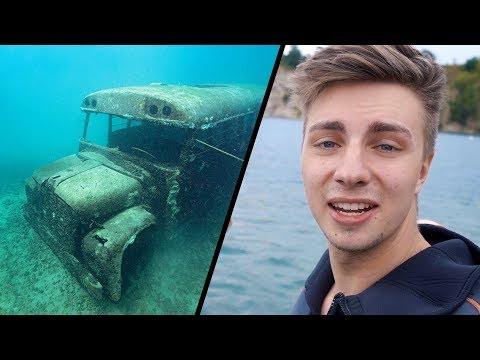 OBJEVILI JSME OPUŠTĚNÝ AUTOBUS POD VODOU! - Potápění