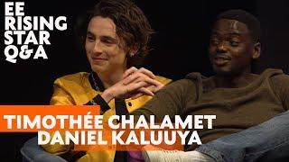 Timothée Chalamet & Daniel Kaluuya   EE Rising Star Q&A