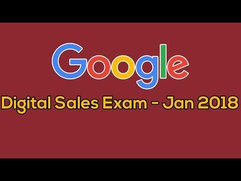 Google Adwords Digital Sales Certification Exam | Jan - 2018 ...
