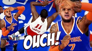 NBA 2K15 76ers MyGM #26 - Melo Got Kicked In The Family Jewels! :/
