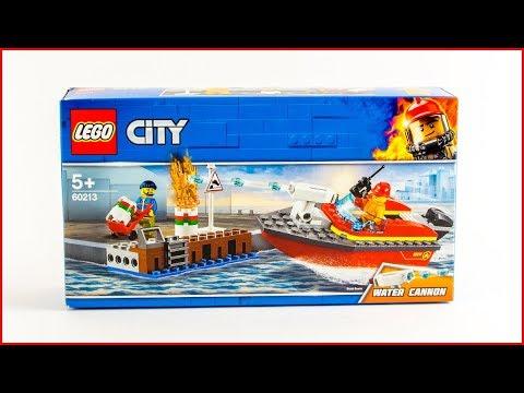 Vidéo LEGO City 60213 : L'incendie sur le quai