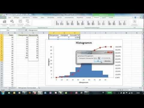 Excel - Histogramm über Datenanalyse erzeugen