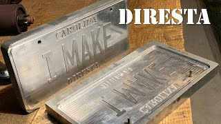 DiResta How To Press A Custom License Plate