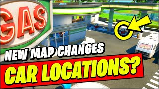 *NEW* Fortnite CARS UPDATE Map Changes - NEW GAS STATIONS & CARS Locations?