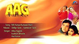 Aag  Yeh Kanya Kunwari Hain Full Audio Song  Govinda Shilpa Shetty Sonali Bendre