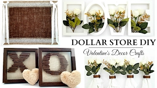 Dollar Store DIYs ~ NEUTRAL Valentines Day Crafts ~ Cute Wall Art & Table Decor!