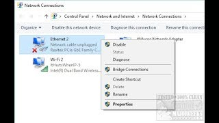 """Plugged in but """"Network Cable Unplugged"""" How to Fix!"""