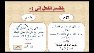 شرح موضوع الفعل اللازم والمتعدي اللغه_العربيه صف_الثاني_متوسط