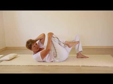 Der Schmerz link der Brust und dem Rücken
