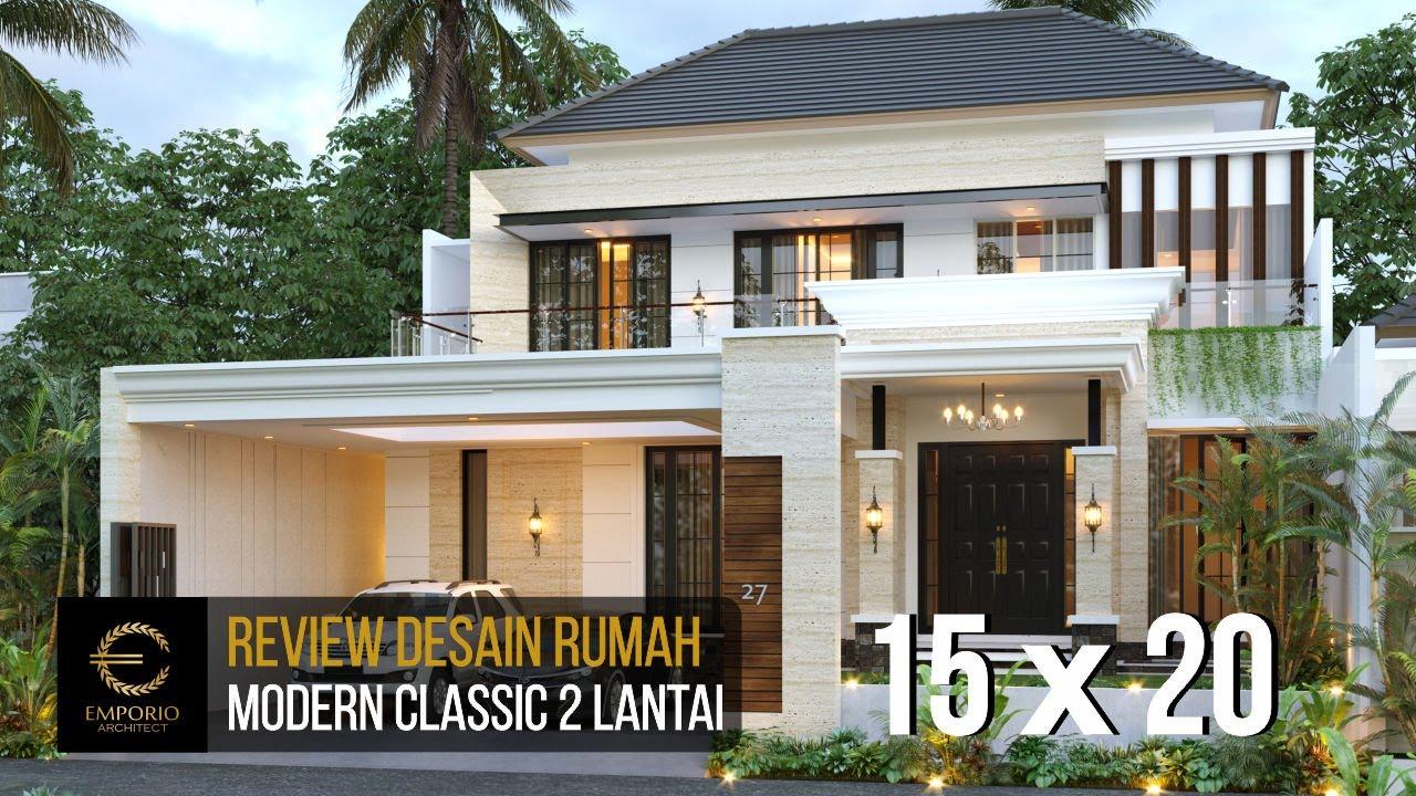 Video 3D Mr. Nanda Modern Classic House 2 Floors Design - Padang, Sumatera Barat