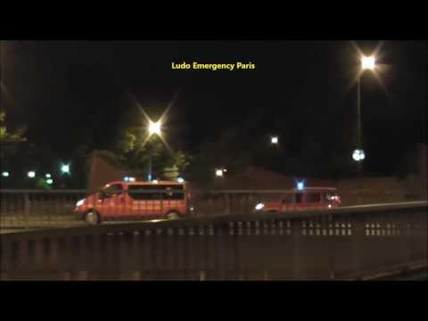 Pompiers de Paris Départ bcom, SPVL et Appui Communication en urgence depuis L'état Major Paris 17