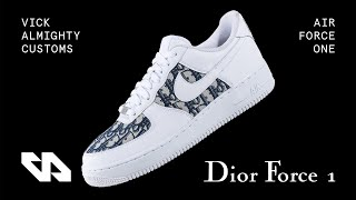 Custom Dior Air Force 1s By Vick Almighty (GIVEAWAY)