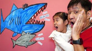 Bố Hướng Dẫn Con Vẽ Cá Mập Đơn Giản Từ Chữ Z