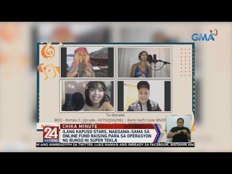 [GMA]  24 Oras: Ilang Kapuso stars, nagsama-sama sa online fund raising para sa operasyon ng bunso ni…