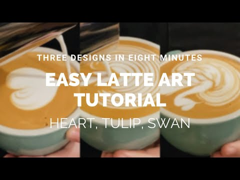 Barista Latte Art Training: Hearts, Tulips, and Swans (Easy for ...