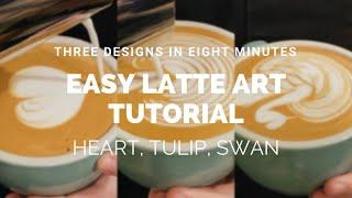 Barista Latte Art Training: Hearts, Tulips, and Swans (Easy for beginner-intermediate)