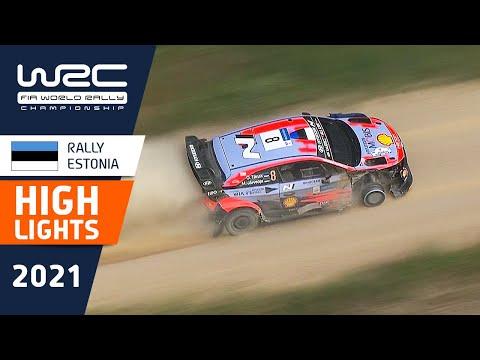 WRC 2021 第7戦ラリー・エストニア SS2-SS5のハイライト動画