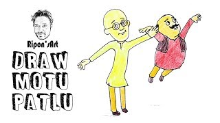 How To Draw Motu Patlu Easily Free Video Search Site Findclip