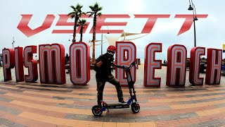 VSETT 11+ Electric Scooter Cruises Pismo Beach Car Show SEPT 2021   Gopro Hero 9 RAW FPV Footage