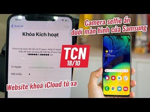 iPhone bị khoá, camera ẩn dưới màn hình của Samsung, Huawei Mate 30 bán tại Việt Nam| TCN 18/10