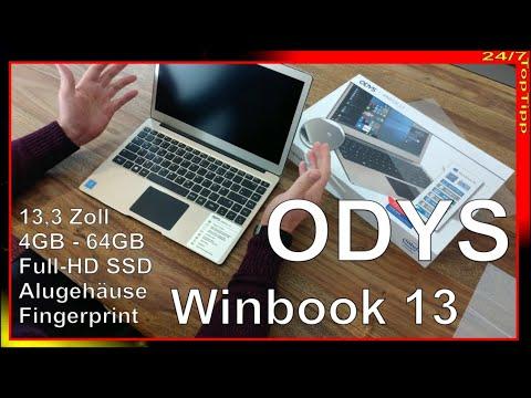 ODYS Winbook 13 - Alternative zu Apple MacBook Air - MacBook Pro - 13,3 Zoll - Alugehäuse - Teil 1/2