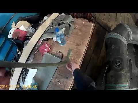 Проклейка швов на резиновой лодке