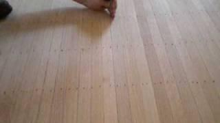 Setting nails on a face nailed hardwood floor