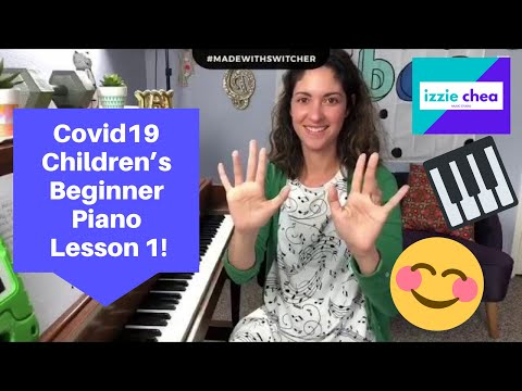 Covid19 Children's Beginner Virtual Piano Lesson 1! Let's Start at the Beginning! 🎹