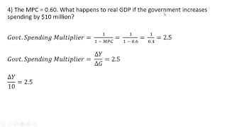 How to Solve Government Spending Multiplier Problems