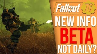 Fallout 76 New Info - The BETA Isn't Everyday?, Bethedsa's Letter, Fake BETA Leaks