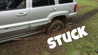 WHAT NOT TO DO WHEN YOUR CAR IS STUCK IN THE MUD