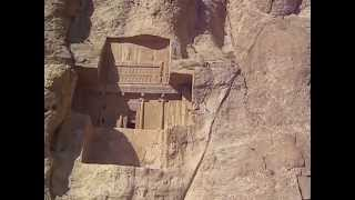 preview picture of video 'Naqsh-e Rustam Persepolis Fars Iran  نقش رستم'