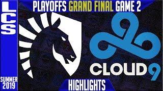 TL vs C9 Highlights Game 2 | LCS Summer 2019 Playoffs Grand Final | Team Liquid vs Cloud9