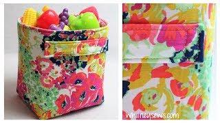 Fabric Storage Bin - Sewing Tutorial | Whitney Sews